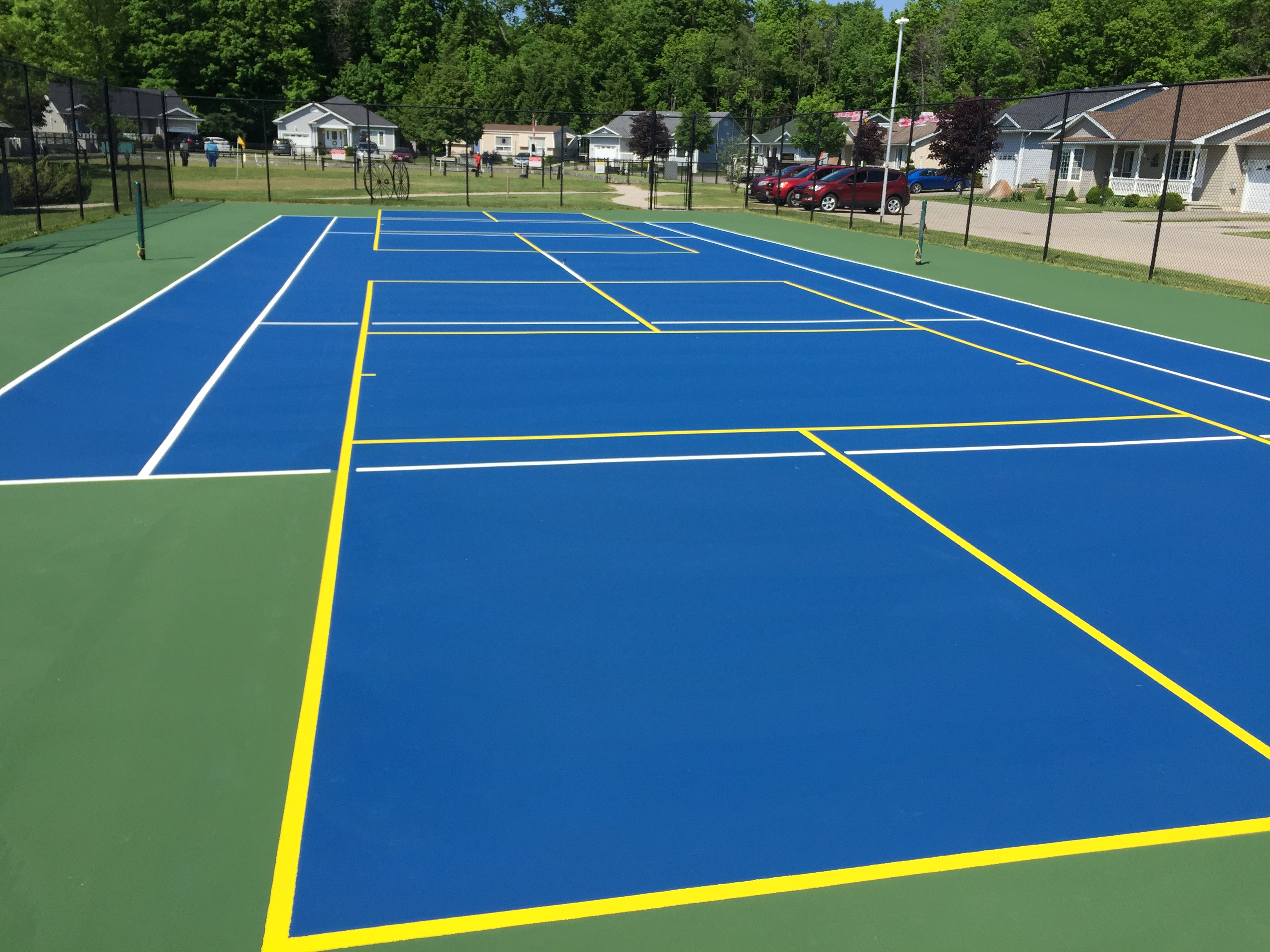 Do Pickeball Lines On Tennis Courts Bother You Talk Tennis